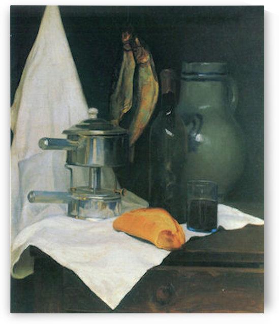 Still Life with Herrings by Felix Vallotton by Felix Vallotton