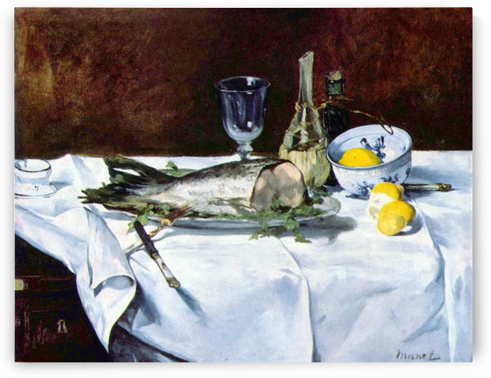 Still Life with Salmon by Manet by Manet