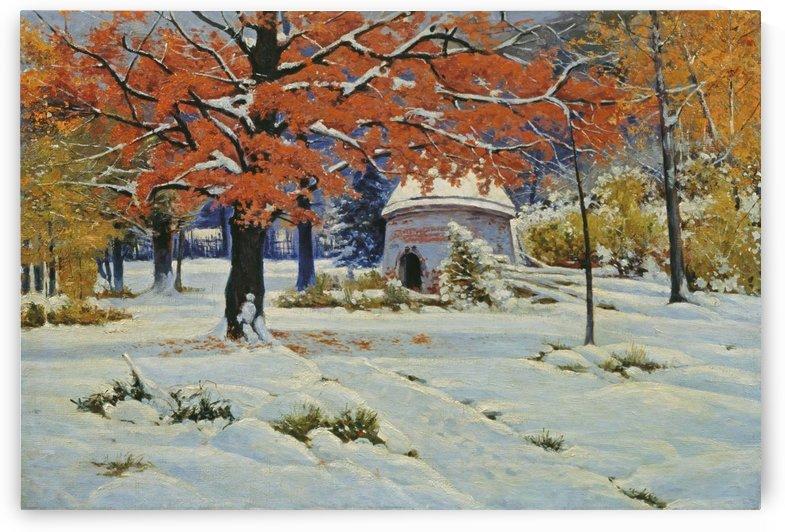 An early snow by Konstantin Yakovlevich Kryzhitsky