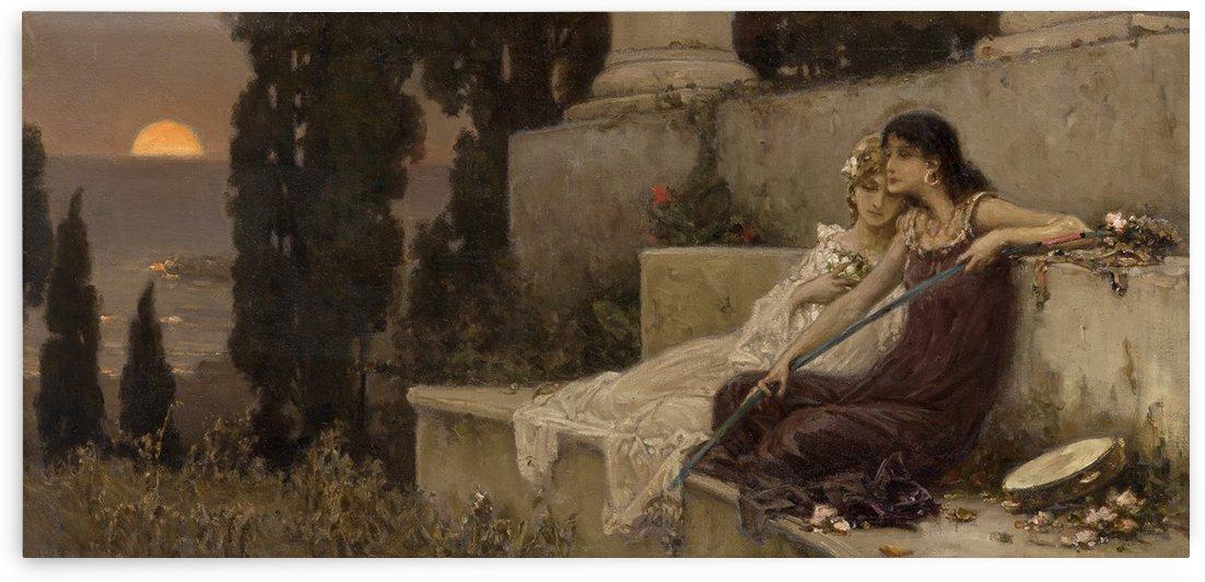 Evening silence by Vasili Alexandrovich Wilhelm Kotarbinsky