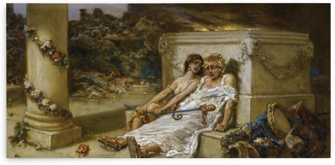 Cupid and Bacchante by Vasili Alexandrovich Wilhelm Kotarbinsky