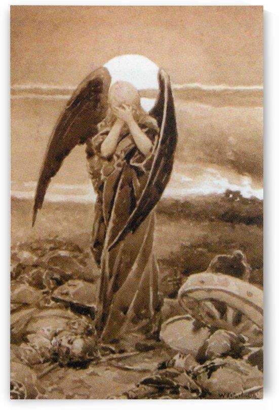 Angel cry by Vasili Alexandrovich Wilhelm Kotarbinsky