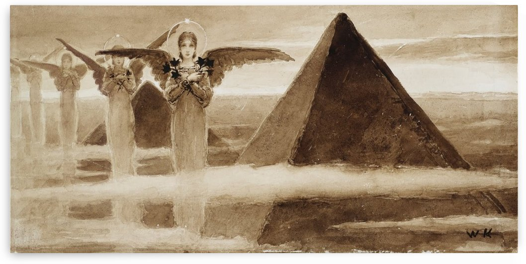 The Angels of the Pyramids by Vasili Alexandrovich Wilhelm Kotarbinsky