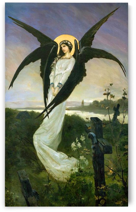 Angel in a cemetery by Vasili Alexandrovich Wilhelm Kotarbinsky