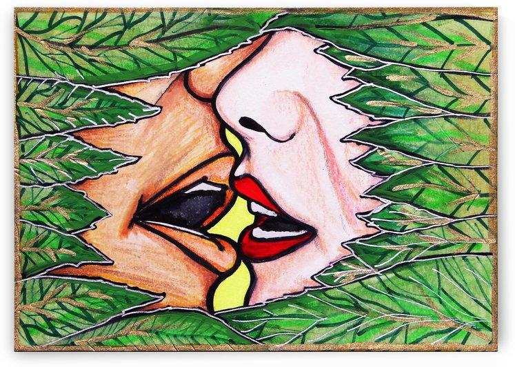 Beso entre el follaje by Paula Valeria Fridman