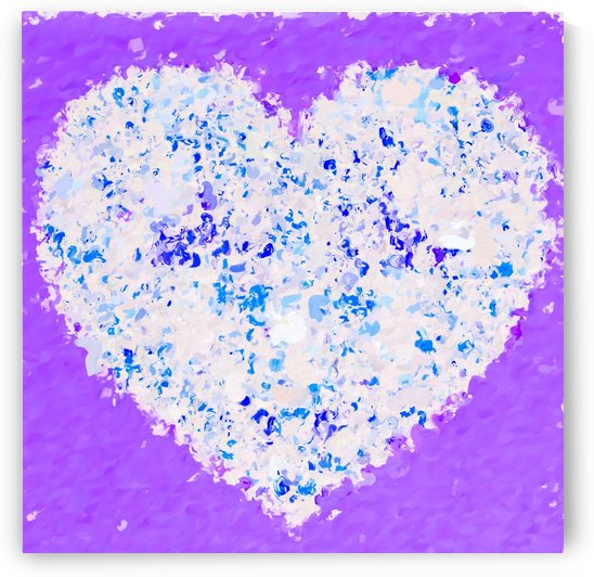 blue and white heart shape with purple background by TimmyLA