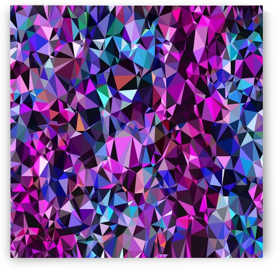 geometric triangle polygon pattern abstract in pink blue black by TimmyLA