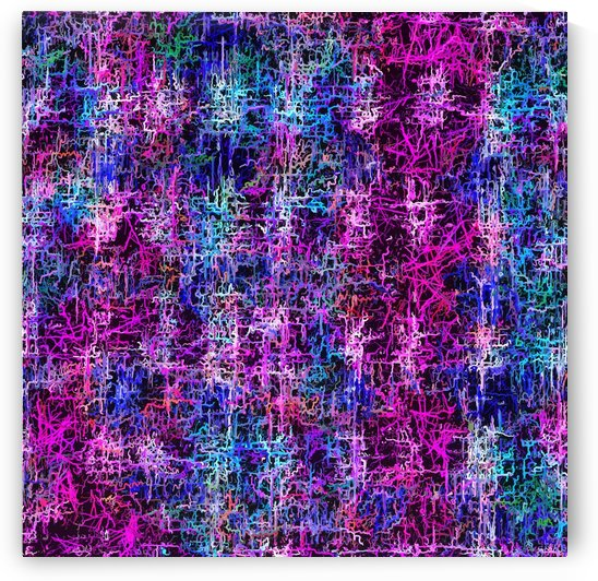 psychedelic abstract art pattern texture background in pink blue black by TimmyLA