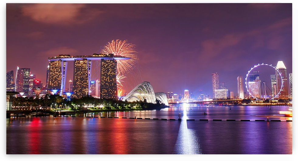 Cityscape Fire Works by Lpulitude