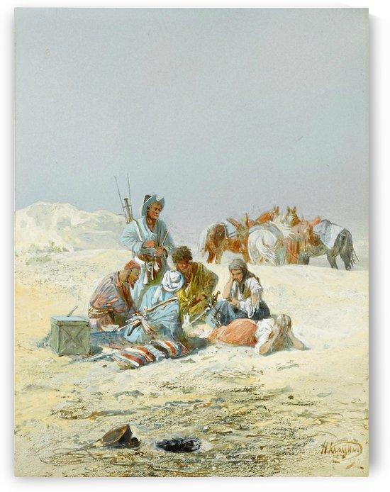 A Kirghiz gathering by Nikolai Nikolaevich Karazin