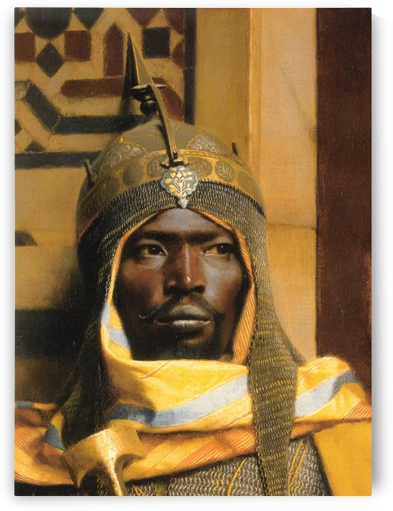 Portrait of Nubian Palace Guard by Ludwig Deutsch