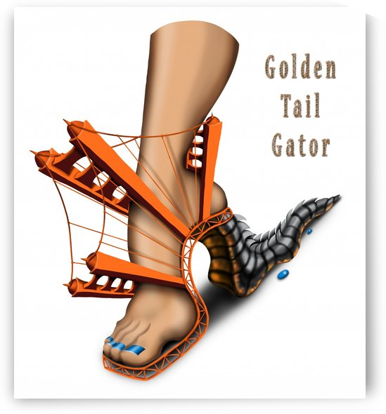 golden_tail_gator_36in by AnarKissed