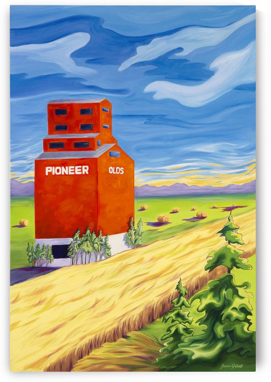 Olds Grain Elevator by Janice Gallant