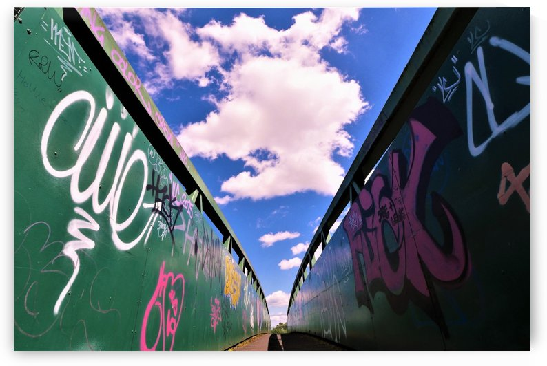 Graffiti bridge by Andy Jamieson