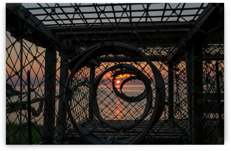 Trapped Sunset by Michel Soucy