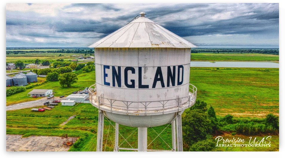 England, AR | Water tower by Provision UAS