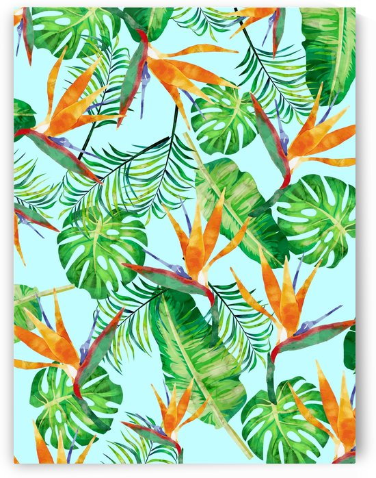 Tropical and exotic pattern I by Vitor Costa