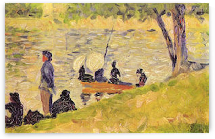Sunday at the Grand Jatte, study by Seurat by Seurat