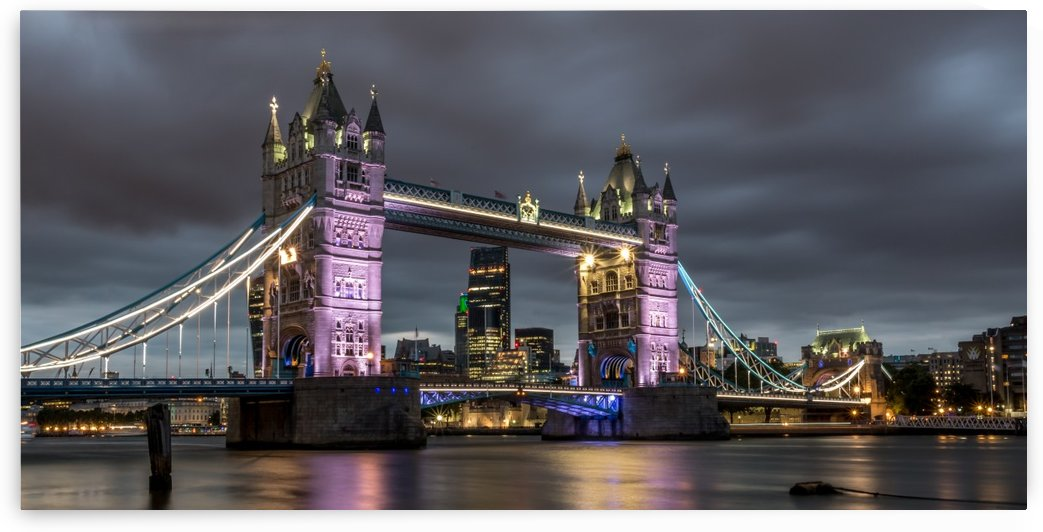 Tower Bridge at Night by Jane Dobbs