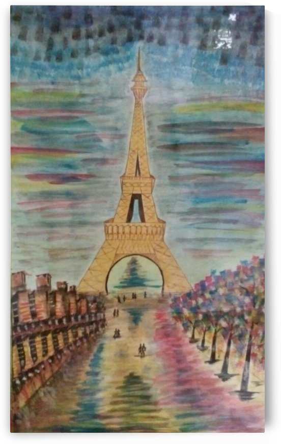 colorful eiffel tower by Raja Hussain