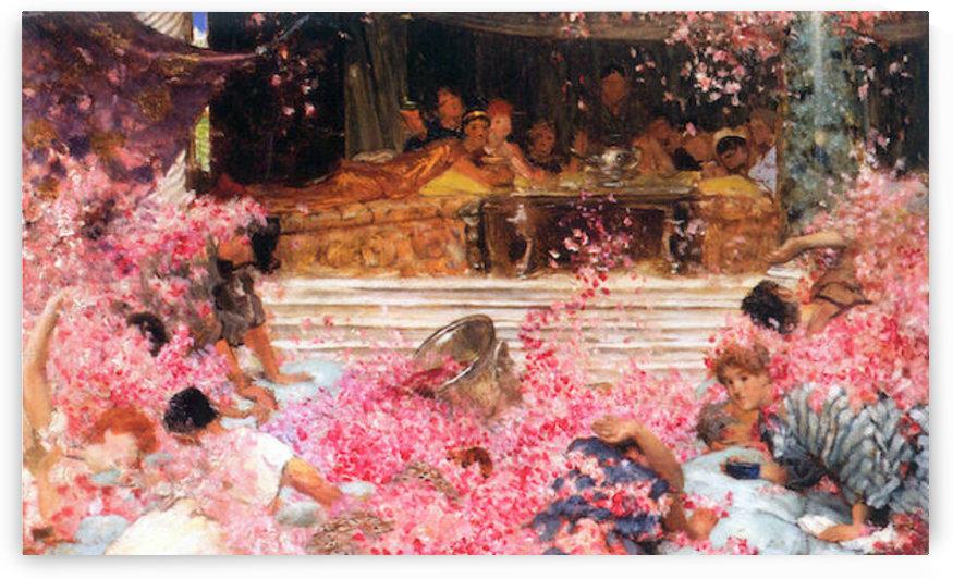 The roses of Heliogabalus by Alma-Tadema by Alma-Tadema
