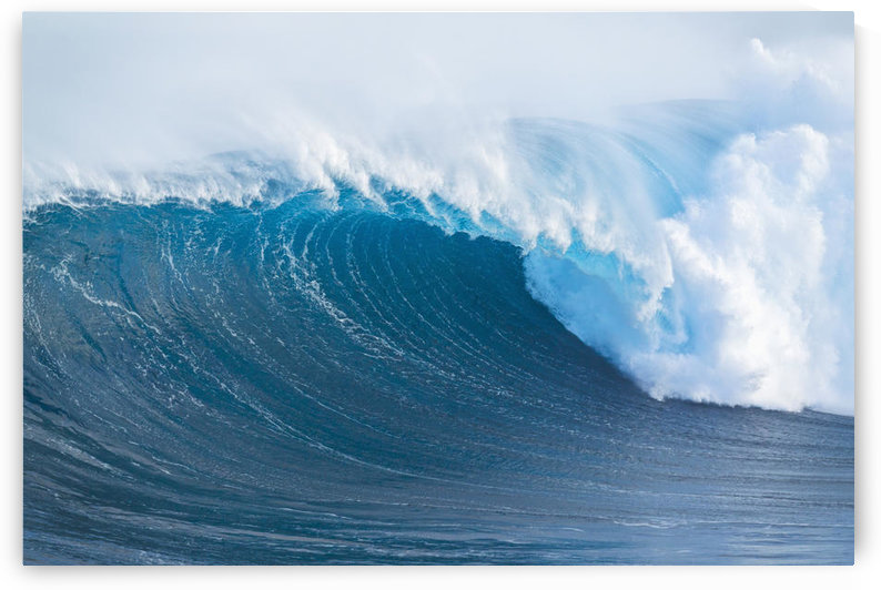 Hawaii, Maui, Peahi, Giant wave breaking at Jaws by PacificStock