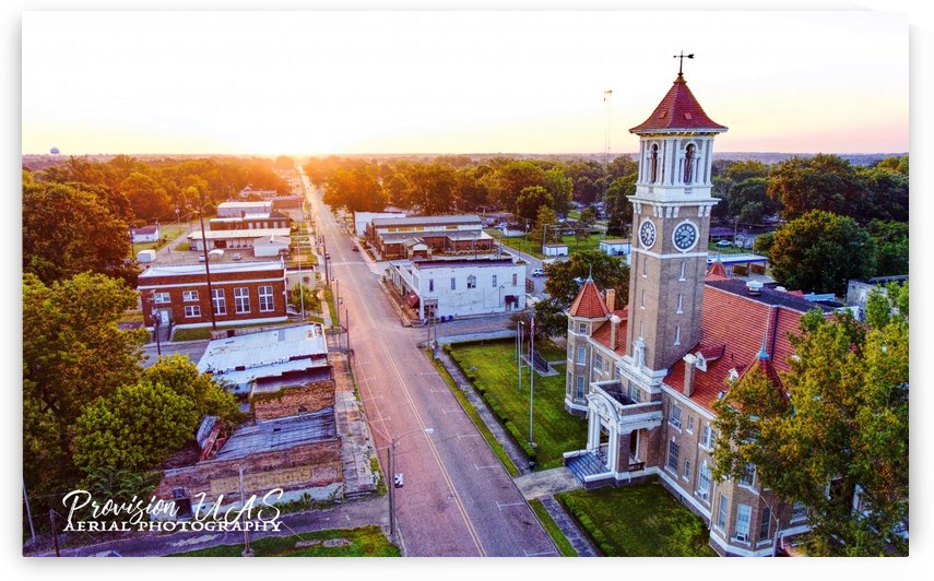 Clarendon AR | Monroe County Courthouse by Provision UAS