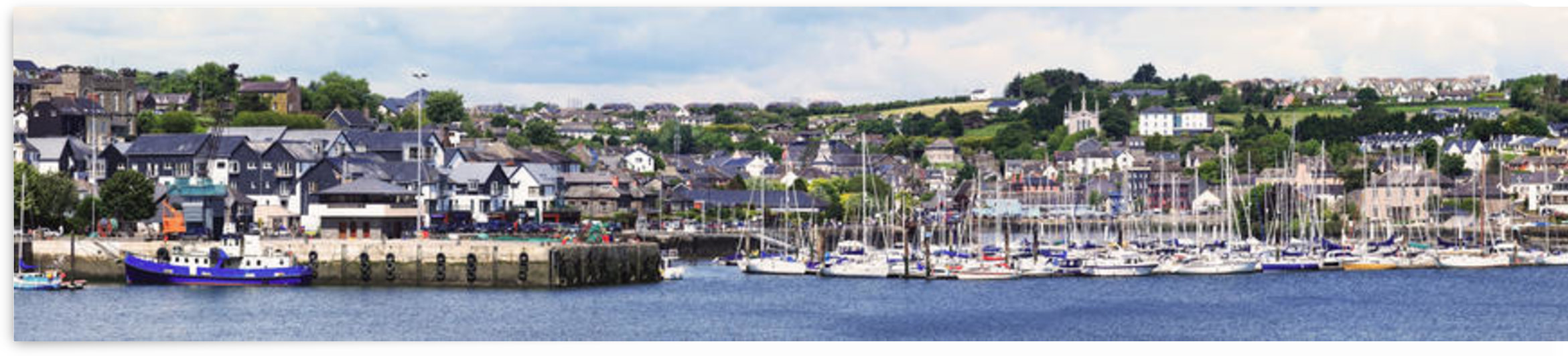 A busy harbour and waterfront;Kinsale county cork ireland by PacificStock