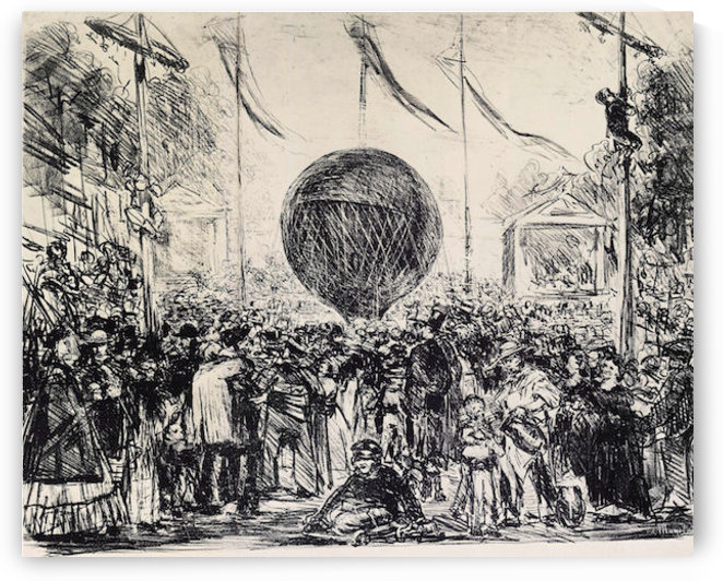 The Balloon by Manet by Manet