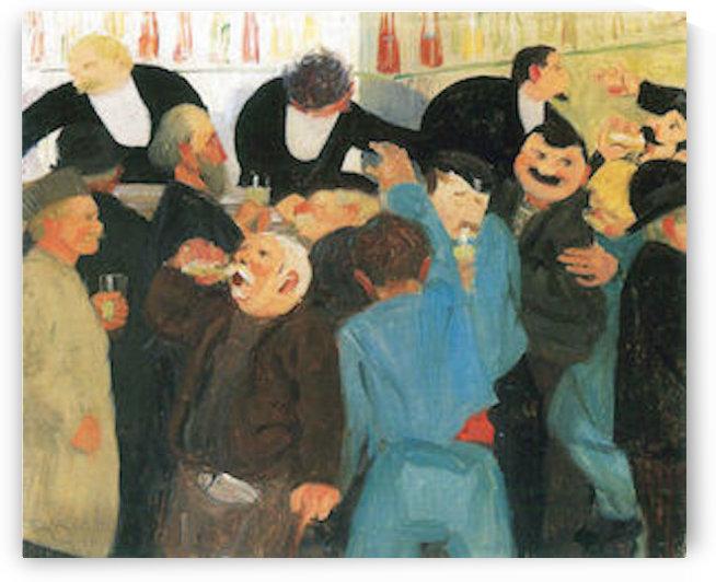 The bistro by Felix Vallotton by Felix Vallotton