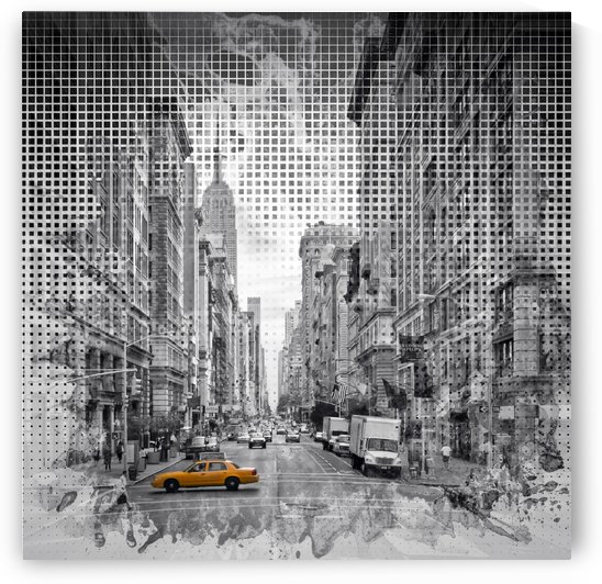 Graphic Art NEW YORK CITY 5th Avenue by Melanie Viola