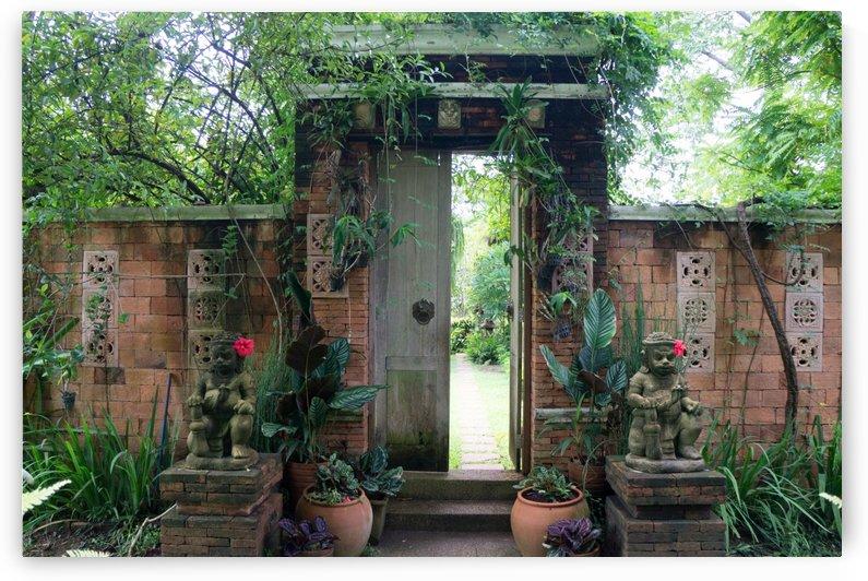 door to a  garden restaurant in chainat by Babetts Bildergalerie