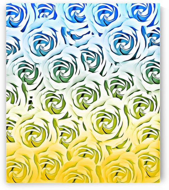 rose pattern texture abstract background in blue and yellow by TimmyLA