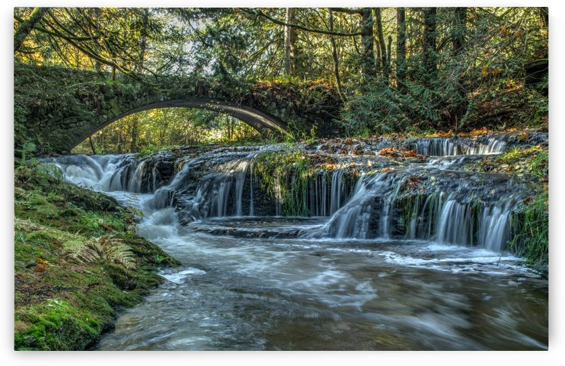 Stone Bridge and waterfalls  by Naturally Scenic Images