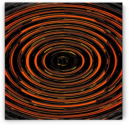 circle pattern abstract background in orange and black by TimmyLA