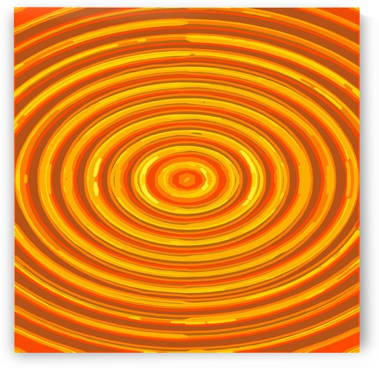 circle pattern abstract background in orange and yellow by TimmyLA
