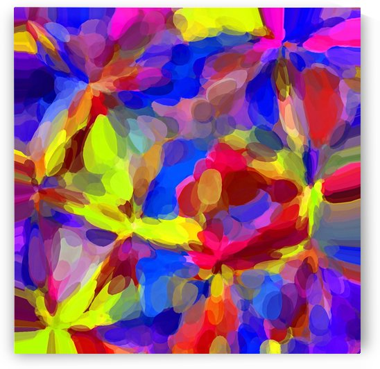 circle pattern abstract background in blue yellow red pink by TimmyLA