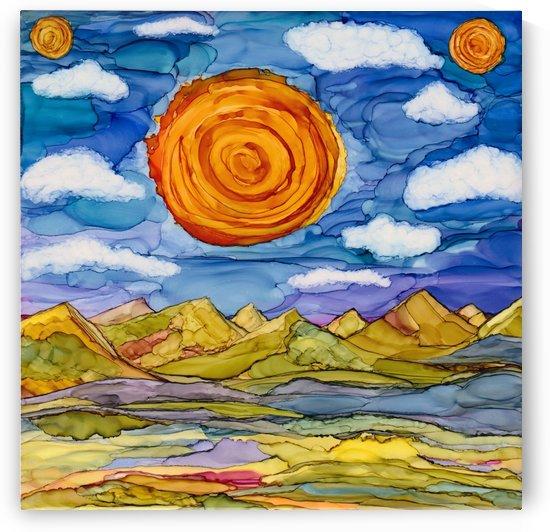 Three Suns Burning Brightly by SunshyneArt