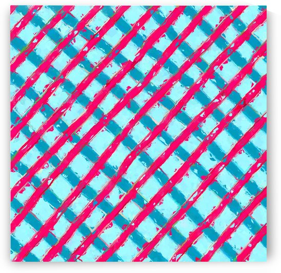 line pattern painting abstract background in blue and red by TimmyLA