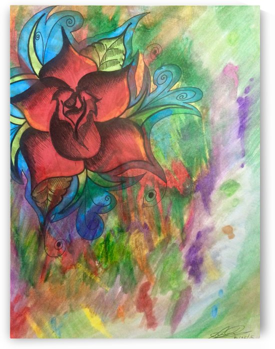 Abstract  Rose by J Duenas