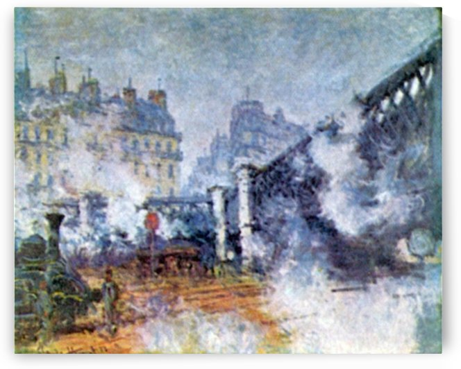 The Europe Bridge Saint Lazare station in Paris by Monet by Monet