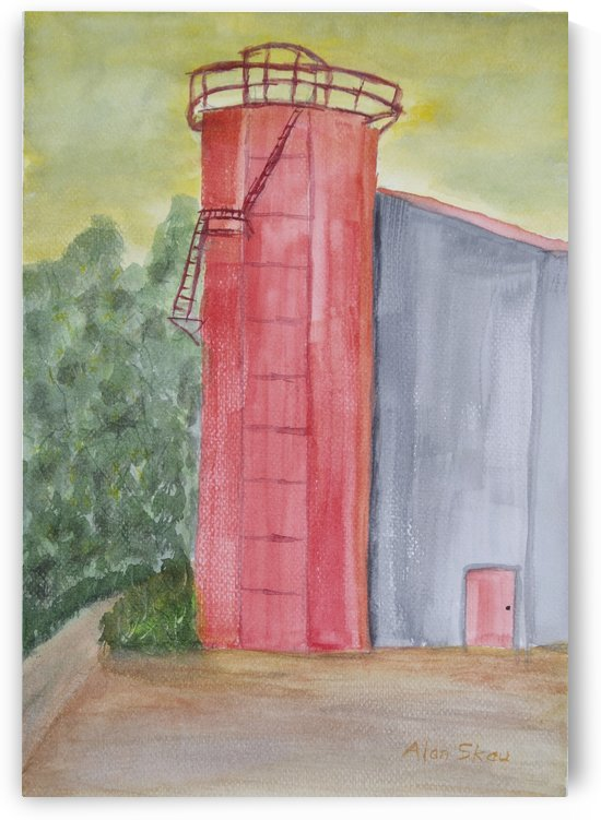 Red Silo. by Alan Skau