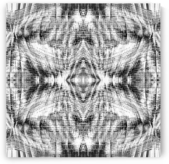 geometric symmetry pattern abstract background in black and white by TimmyLA