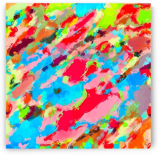 camouflage pattern painting abstract background in green blue pink red orange by TimmyLA