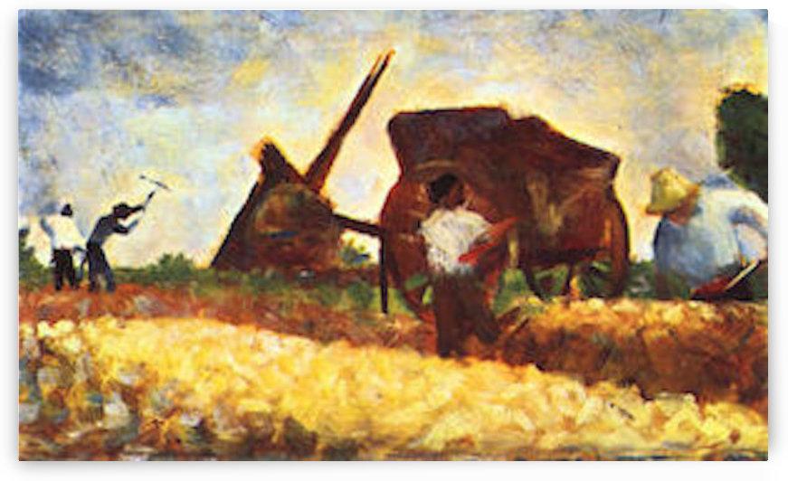 The field worker by Seurat by Seurat
