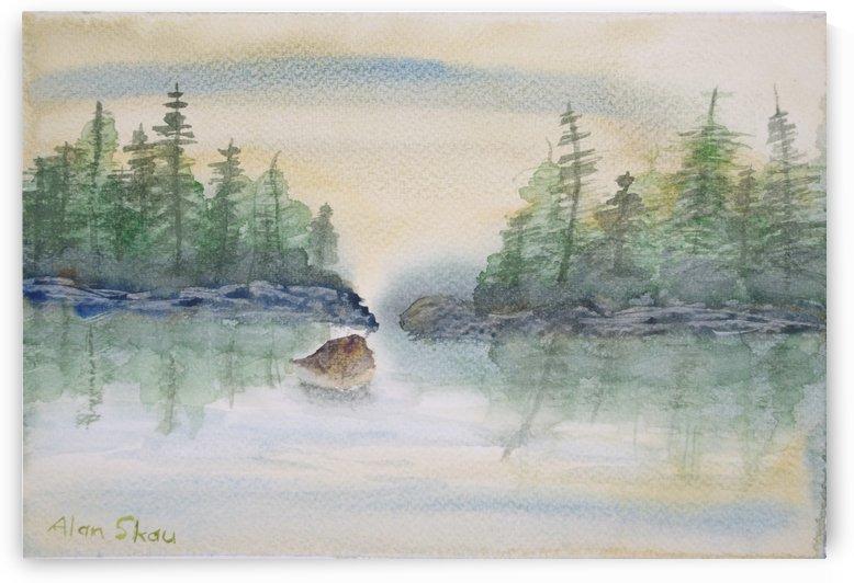 Lake reflections. by Alan Skau