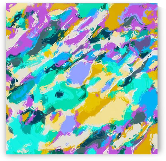 camouflage pattern painting abstract background in green blue purple yellow by TimmyLA