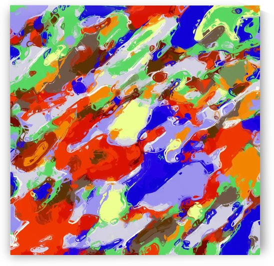 camouflage pattern painting abstract background in red blue green yellow brown purple by TimmyLA