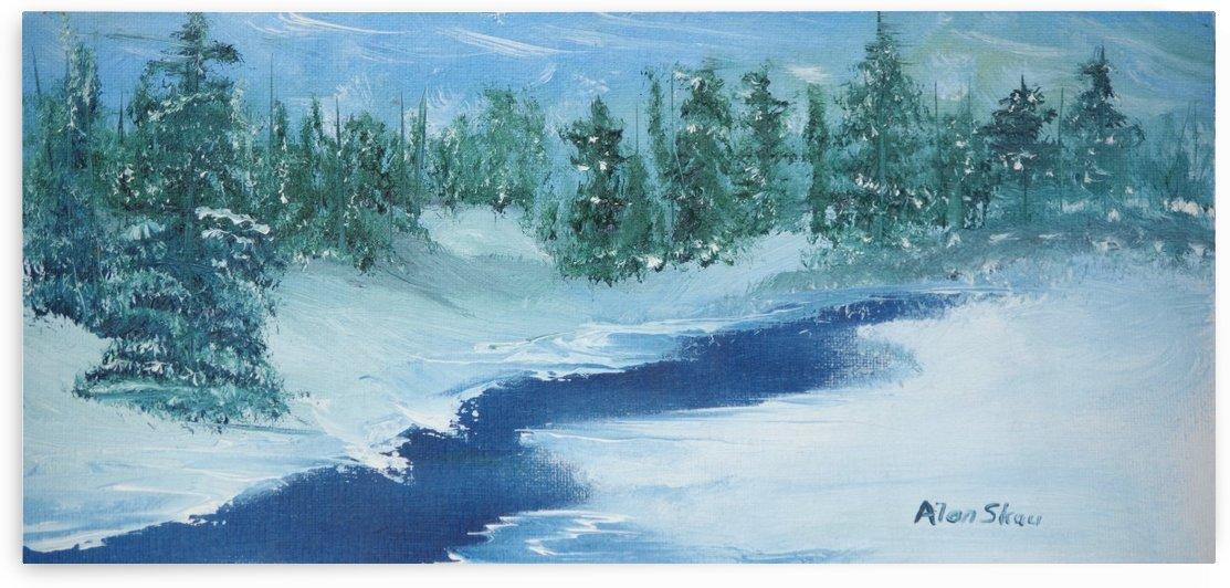 Icy Stream. by Alan Skau