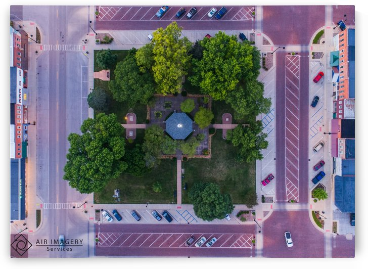 Rushville, IL Square, Straight Down Shot by Jordan Williams of Air Imagery Services